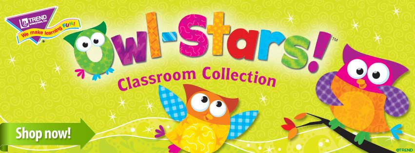 Owl Stars Classroom Collection by Trend Enterprises