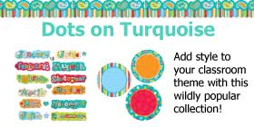 Dots on Turquoise Classroom Collection